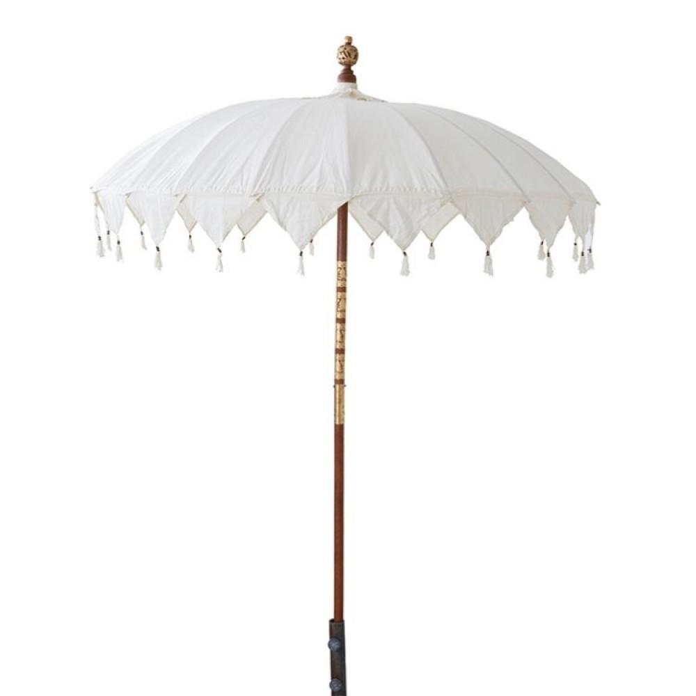 Parasol i Offwhite med Frynser-37