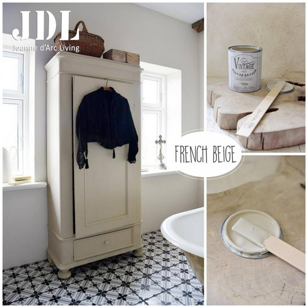French Beige Vintage Wall Paint-31