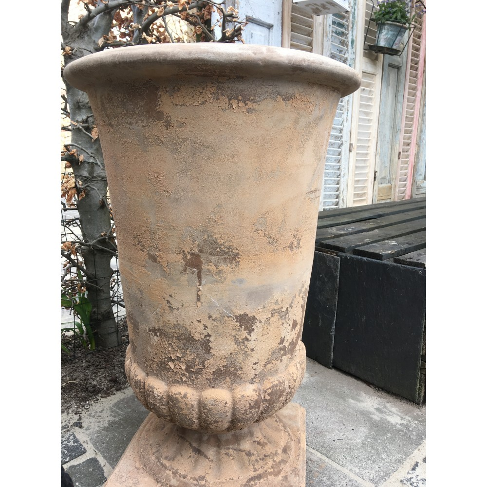 Stor Pokal Krukke Antique Terracotta-310