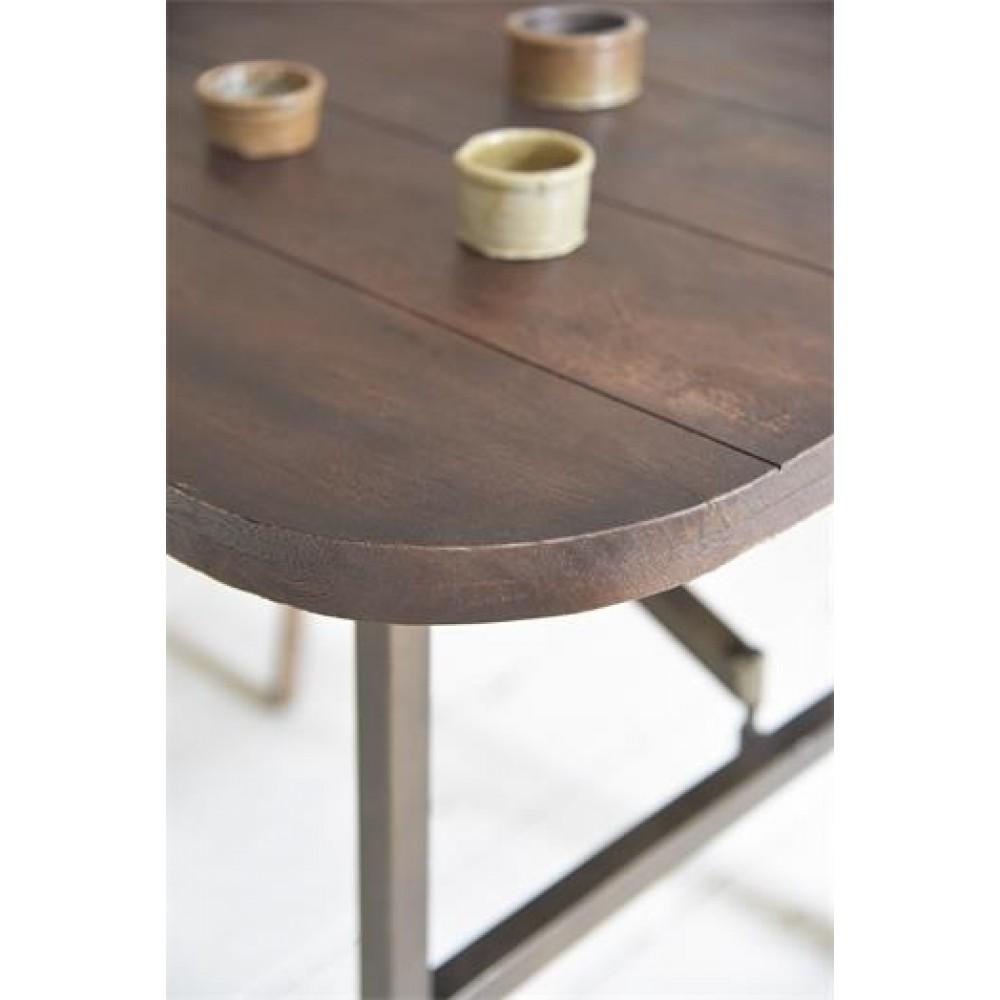 Spisebord med Hjul Antik Look Serien-31
