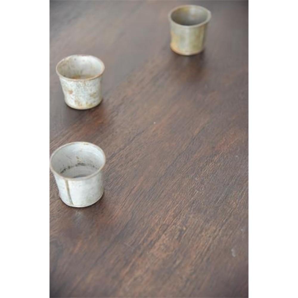 Spisebord Massivt Mørkt Antik Look Serien-31