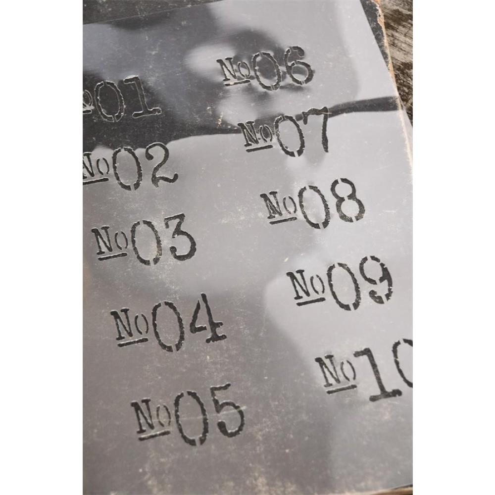 Stencil Med Numre-32