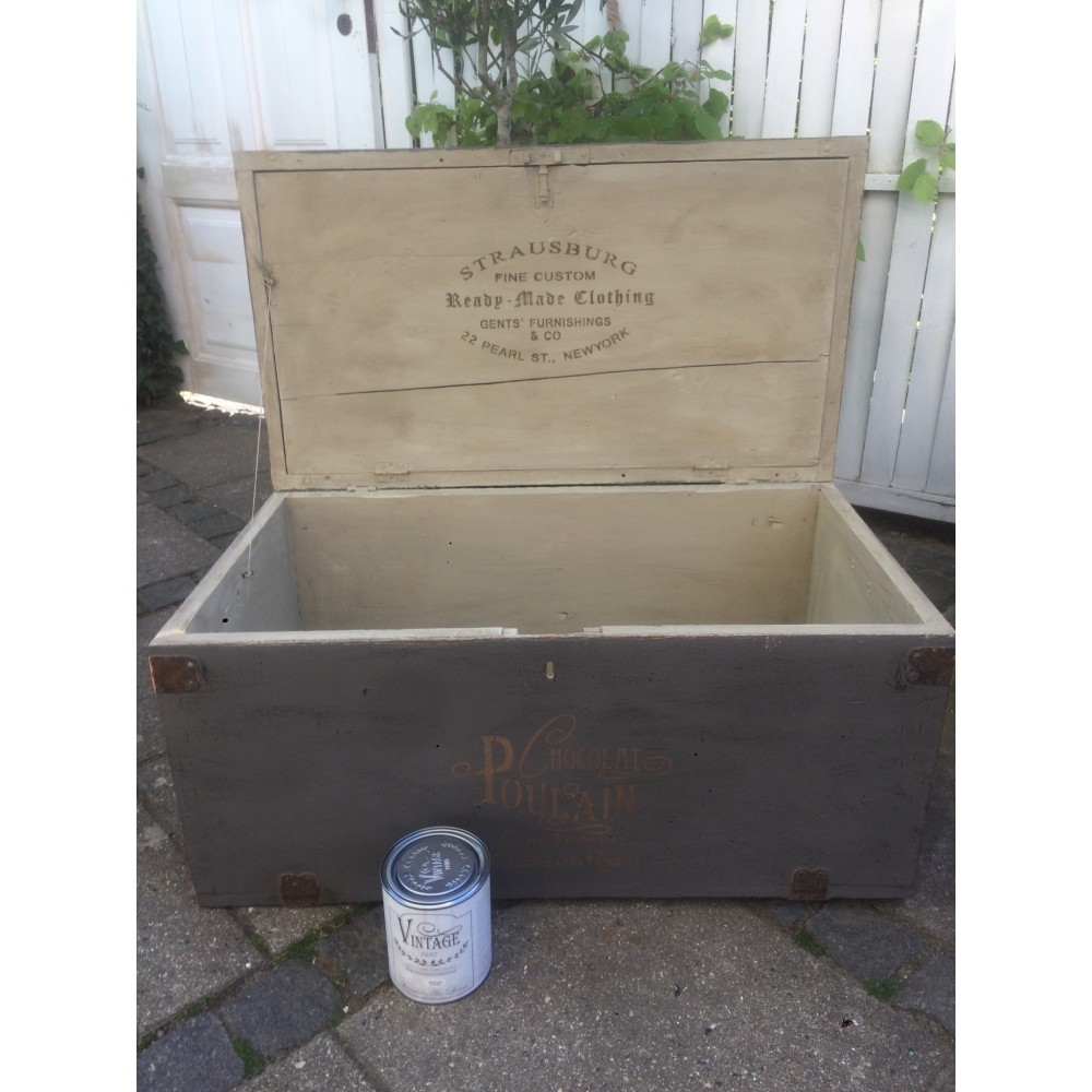 Gammel Træ Kiste-34