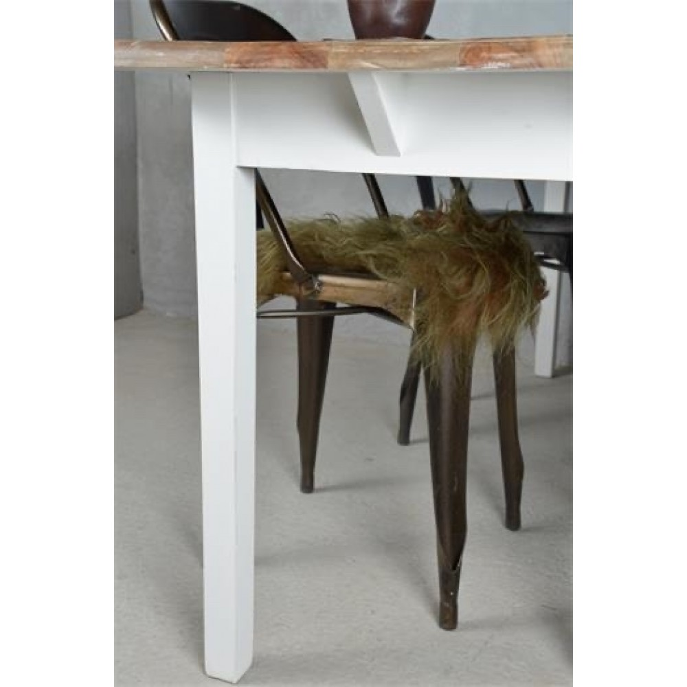Spisebord Hvid Natur-32