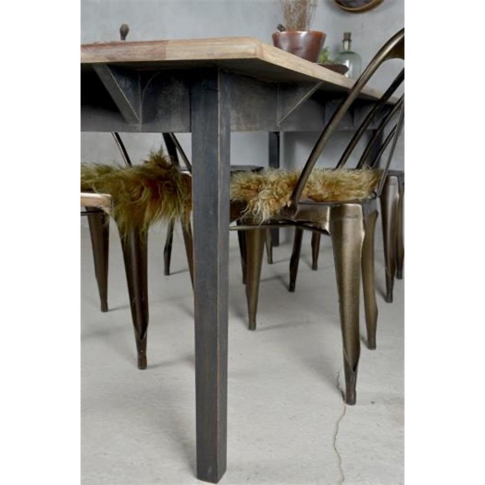 Spisebord Sort Natur-34