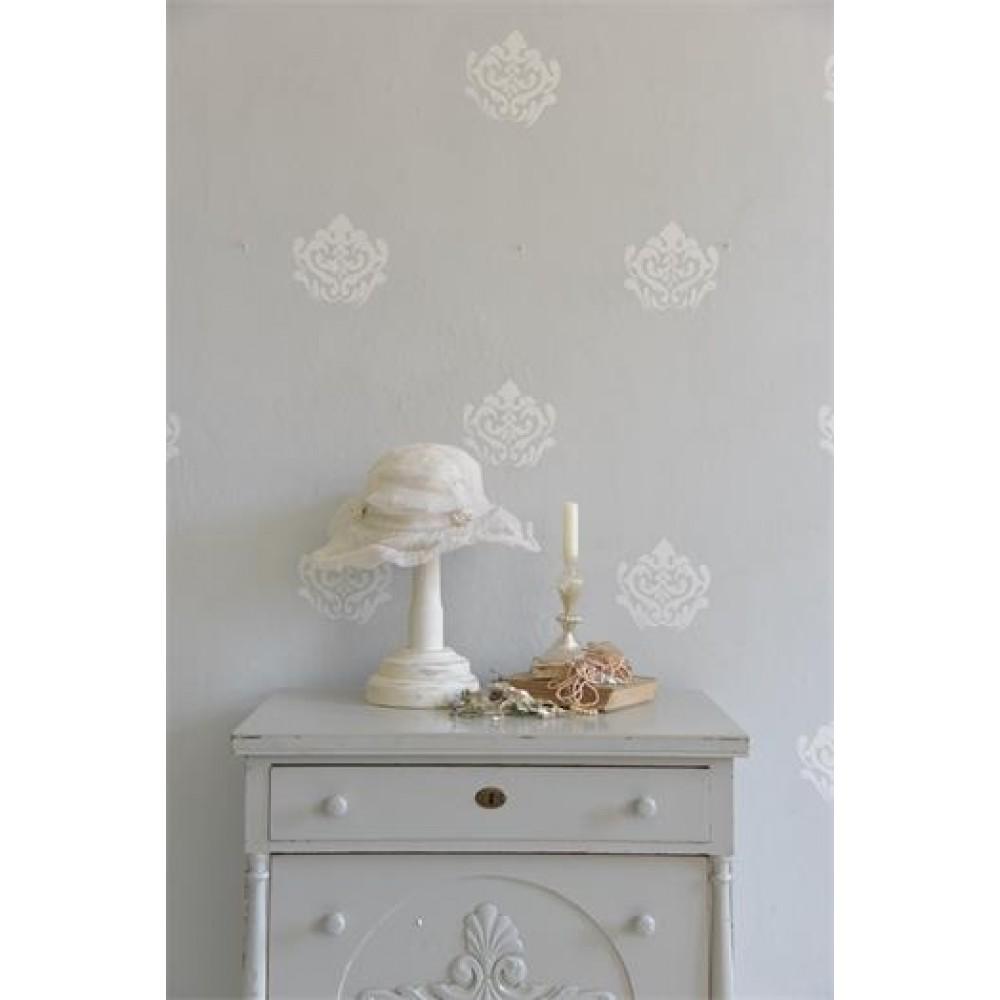 Stencilsvamp Barok Blomst Mønster-32