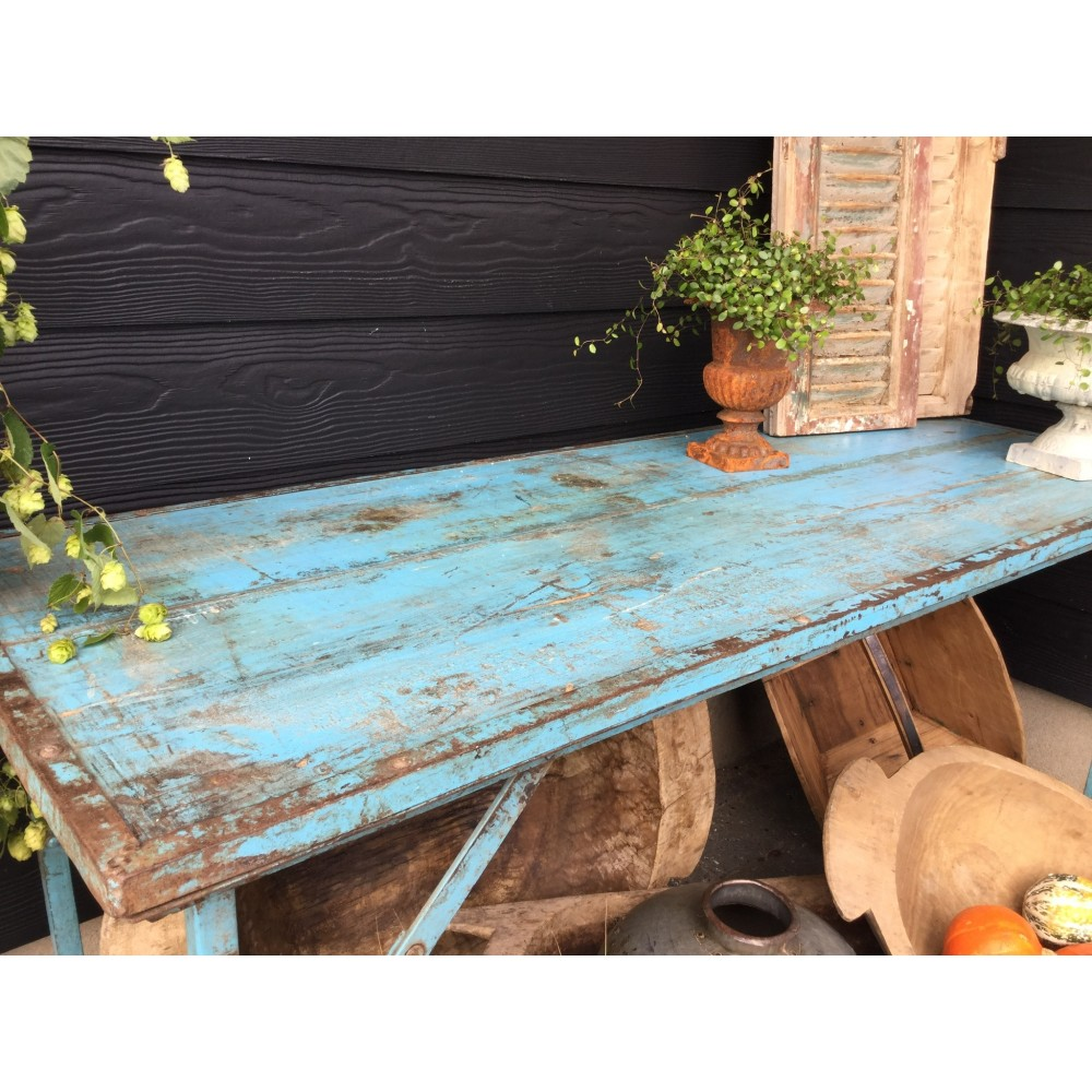 Klapbord med Planker og Jernstel-33