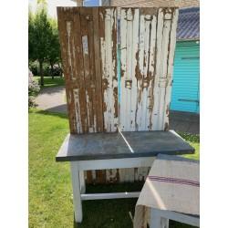 Solidt Plankebord med Zinkplade 131x60-20