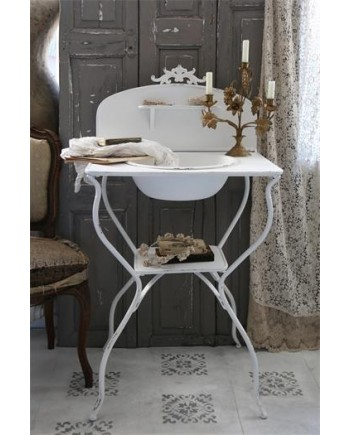 Vaskebord Antik hvid-20