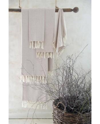 Håndklæde Vintage/Creme 100x200-20