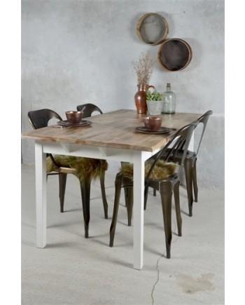 Spisebord Hvid Natur-20