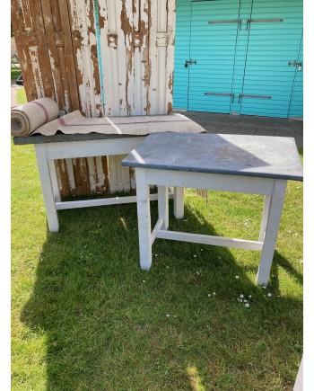 Solidt Plankebord med Zinkplade 95x63