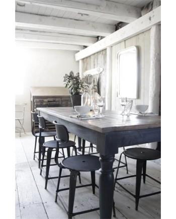 Spisebord Massiv Bordplade - Mørkt