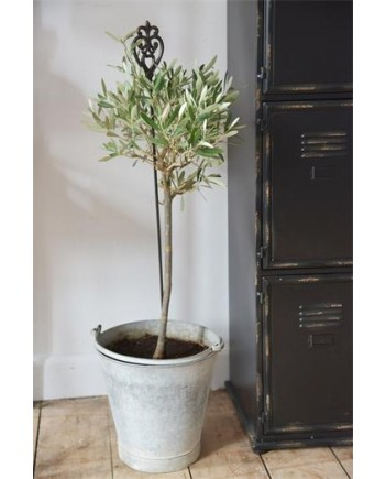 Plantespyd med Monogram - 85 cm - Mørk Vintage