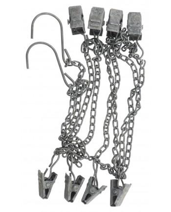 Metalkæde med 8 Clips