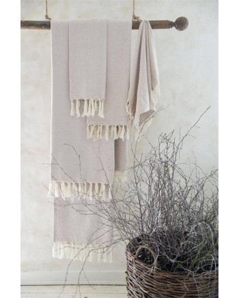 Håndklæde Vintage/Creme 100x200