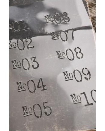 Stencil Med Numre