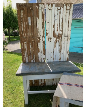 Solidt Plankebord med Zinkplade 131x60