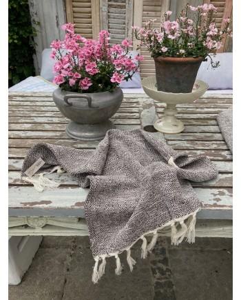 Gæste Håndklæde Brown/Creme 40x60